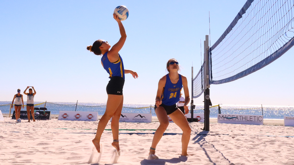 beach volleyball claims third victory of the season in split at thebeach volleyball claims third victory of the season in split at the ohio valley challenge